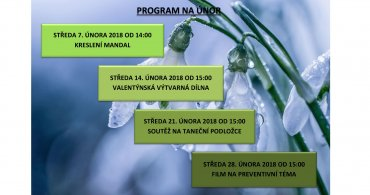 Měsíční program NZDM EMKO na měsíc únor