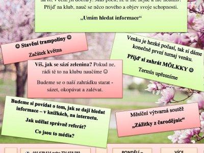Program NZDM Free klub na měsíc květen