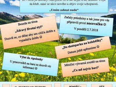 Program NZDM Free klub na měsíc červenec