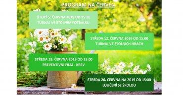 Měsíční program na ČERVEN NZDM - EMKO