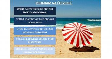 Měsíční program na ČERVENEC NZDM-EMKO