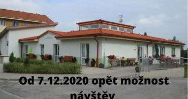 Návštěvy v Domově Simeon od 7.12.2020